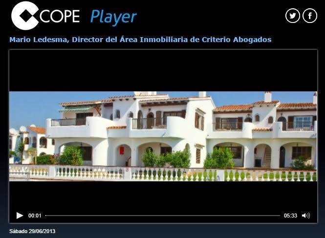 En cadena COPE: Mario Ledesma, Director del Área Inmobiliaria de Criterio Abogados