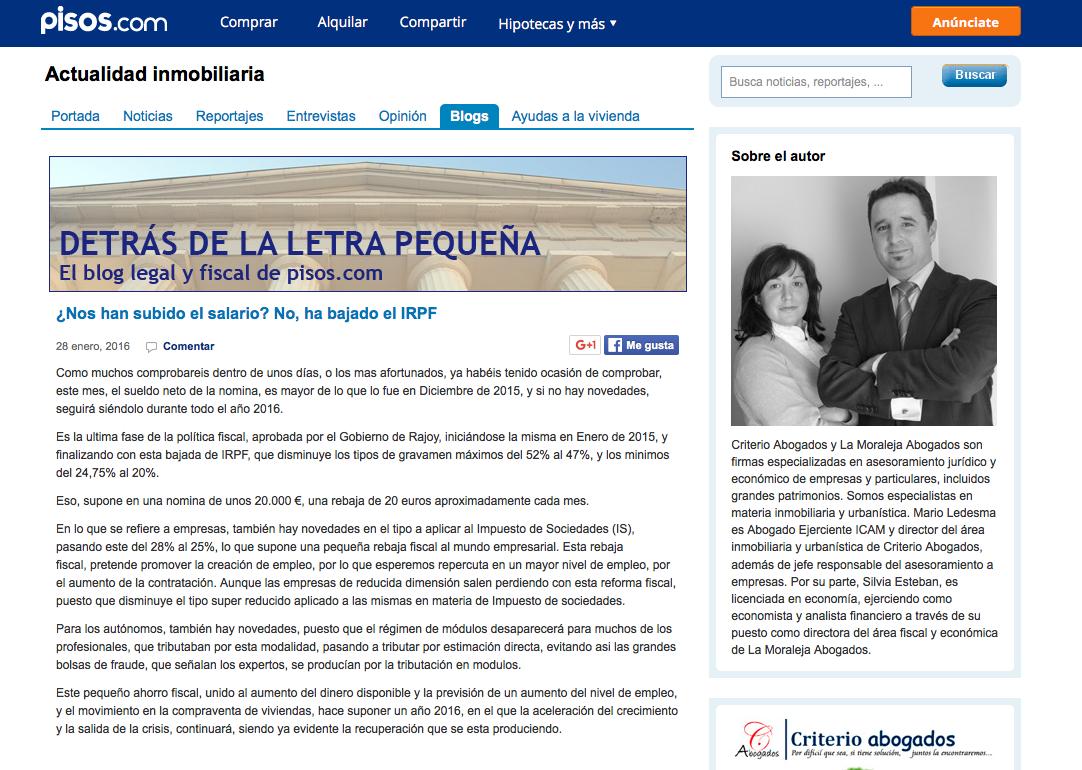 Detrás de la letra pequeña | El blog legal y fiscal de pisos.com